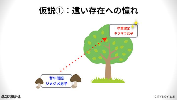 仮説1:遠い存在への憧れ(嫉妬)